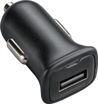 Plantronics Car Charging Adapter USB black 89110-01 NEW