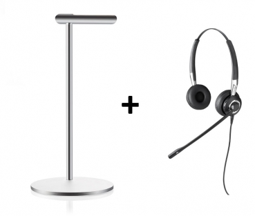Jabra CPS Bundle BIZ 2400 Duo NC Typ: 82 E-STD + Design Headsetstand 2489-825-109