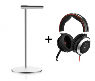Jabra CPS Bundle EVOLVE 80 UC Duo USB + Design Headsetstand 7899-829-209