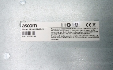 Ascom UniteCM, Elise3 Std(UK/NA/ANZ) FE3-C1ABAB Refurbished