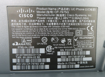 Cisco CP-7975G= Cisco Unified IP Phone 7975G Refurbished