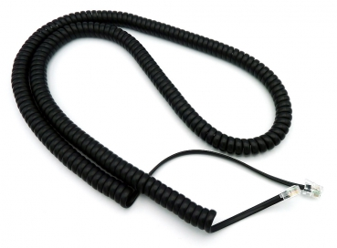Handset cable handset cord premium-quality black 100cm NEW