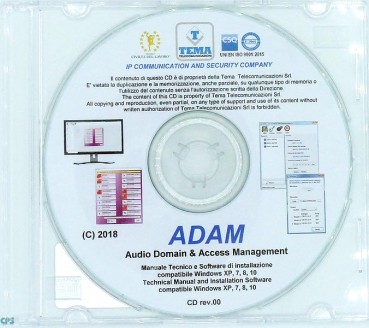 TEMA ADAM manager Until 256 Rooms Software ADAM-256
