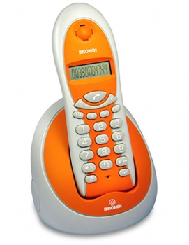 Brondi MIAMI orange ECO DECT Telefon NEU