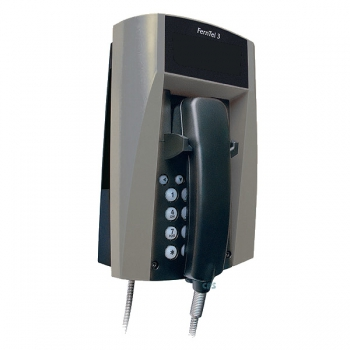 FHF Weatherproof Telephone FernTel 3 black/grey without display with spiral cord 11230027
