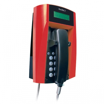 FHF Weatherproof Telephone FernTel 3 black/red with display with armoured cord 11233022