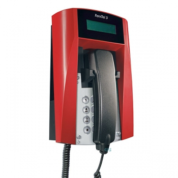 FHF Ex-Telephone FernTel 3 Zone 2 black/red with display with spiral cord 11241022
