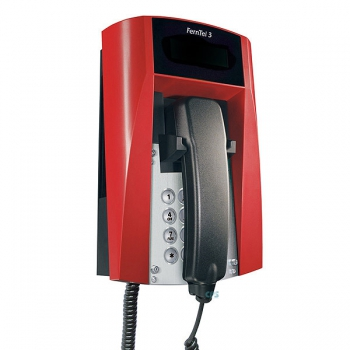 FHF Ex-Telephone FernTel 3 Zone 2 black/red without display with spiral cord 11240022