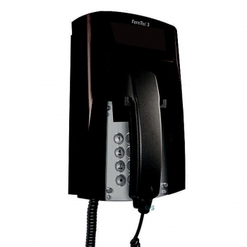 FHF Ex-Telephone FernTel 3 Zone 2 black without display with spiral cord 11240020