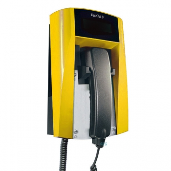 FHF Ex-Telephone FernTel 3 Zone 2 ZB black/yellow without keypad with armoured cord 11245021