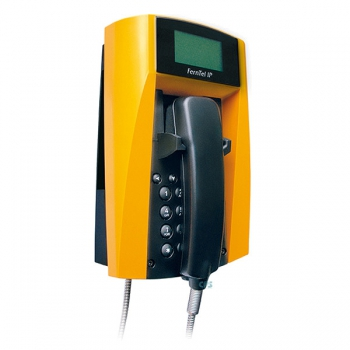 FHF Weatherproof Telephone FernTel IP black/yellow with armoured cord 11233121