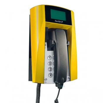 FHF Ex-Telephone FernTel IP Zone 2 black/yellow with armoured cord 11243121