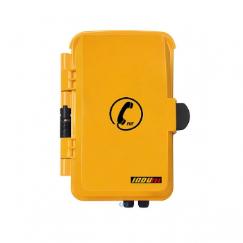 FHF Weatherproof Telephone InduTel yellow synthetic housing with protection door 11264501