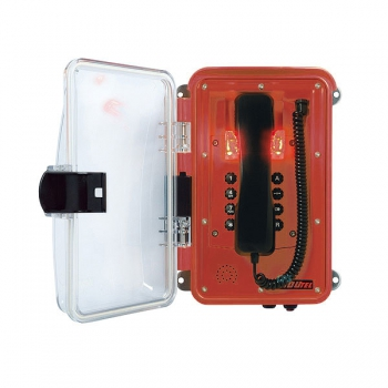 FHF Weatherproof Telephone InduTel IP red synthetic housing with clear-transp. protect. door 1126458602