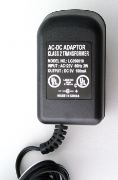 AC/DC Power Supply Charger US-Adapter Adaptor 9V/100mA LG090010 NEW
