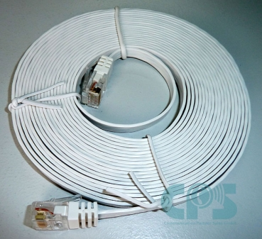 LAN-Cable CAT6 5m for OpenScape OpenStage optiPoint UTP slim-line white NEW