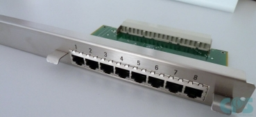 Internal patch panel NPPS0 8X RJ45 4-wire S30807-Q6624 L30251-U600-A78 Refurbished