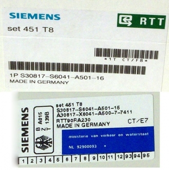 Siemens Set 451 T8 S30817-S6041-A501 Refurbished