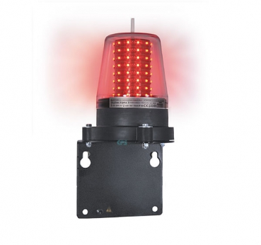 FHF Obstacle light Skyline Alpha 2 24 VDC cap red mount. bracket + equip. w. a 1m cable 223213020