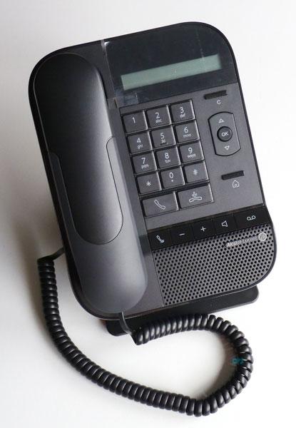 Alcatel 8012 DeskPhone entry level SIP phone 3.5mm headset port 10/100/1000  PC port ...