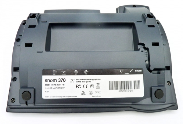SNOM 370 IP-Telefon schwarz 3039 without cardboard insert NEW