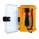 FHF Weatherproof Telephone InduTel IP yellow synthetic housing with clear-transp. protect. door 11264586