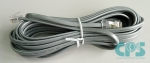 Telephone cable telephone line cord 6 m RJ11/RJ45 silver satin L30250-F600-A594 NEW