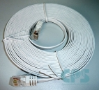 Patchcable LAN cable 2xRJ45 UTP cat. 6. slim-line 5m. white NEW