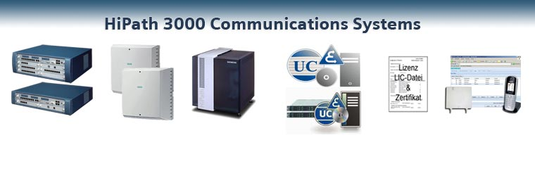 HiPath 3000 communication systems